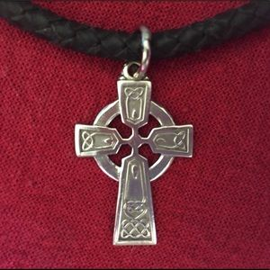 Silver Creed Cross Necklace
